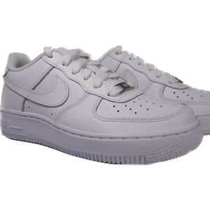 Nike Air Force 1 GS (White) Kids Sneakers